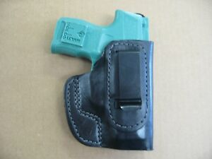 Details about Sig P365 365 9mm Pistol IWB Leather Custom Concealed Carry  Holster CCW BLACK R