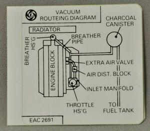 Details about Jaguar Vacuum Routeing Diagram sticker EAC-2691 XJ6 on jaguar socks, jaguar lawn mower, jaguar electronics, jaguar tank,