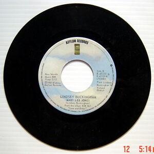 ONE-1981-039-S-45-R-P-M-RECORD-LINDSEY-BUCKINGHAM-TROUBLE-MARY-LEE-JONES