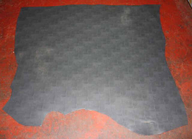 "Genuine REAL Leather skin 33""x54"" DK GREY LIZARD PRINT 2/2.2mm CRAFTS HOBBY HB3"