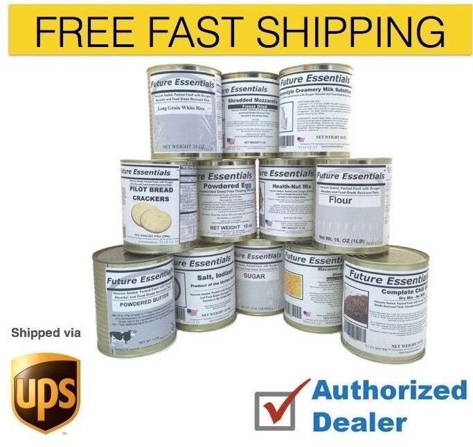 Case (12 Cans) of Future Essentials Basic Preparedness Variety Case, Free Ship