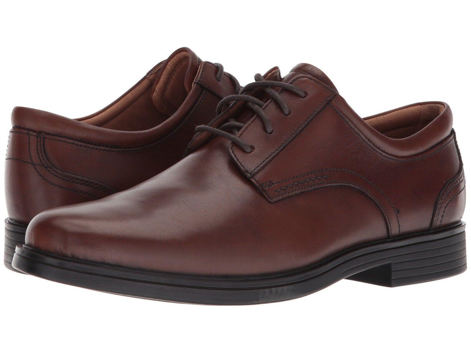 sconti e altro Clarks Clarks Clarks UN ALDRIC LACE Uomo Dark Tan Leather 32673 Lace Up Comfort Oxford scarpe  sconto prezzo basso