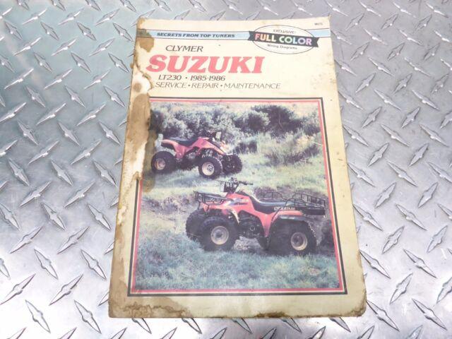 M475 1985 1986 85 86 Suzuki Lt 230 Lt230 Owners Book