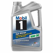 10W-30 Mobil 1 synthetic Motor Oil High Mileage Engine Protect 5 Quart 120848