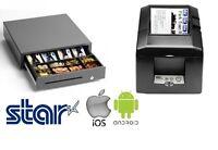 Tsp654iibi2-24 Star Bluetooth Printer & Star Cash Drawer Bundle