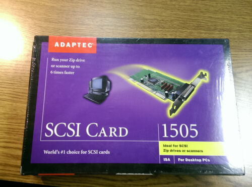 New NIB Adaptec 1505 1725800 SCSI 50pin Card Board Scanner Kit with Cables