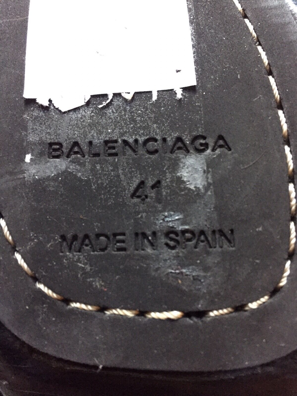 NEW BALENCIAGA CHUNKY CHUNKY CHUNKY WOODEN HUGE STUD UNIQUE LACE UP SANDALS SIZE 41  795 HTF 58ad7e