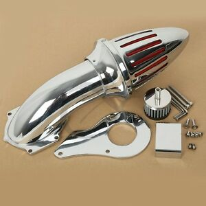 Chrome-Air-Filter-Cleaner-Set-Intake-For-Honda-Shadow-VLX600-VT600C-Deluxe-1999