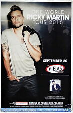 "RICKY MARTIN ""ONE WORLD TOUR"" 2015 SAN DIEGO CONCERT POSTER-Pop, Latin Pop Music"