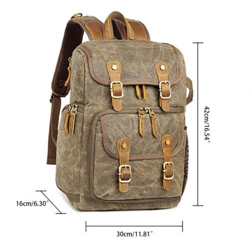 Camera Vintage Canvas Backpack Travel Bags For Cannon//Nikon//Sony DSLR SLR