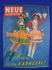 NEUE ILLUSTRIERTE 1958 Nr. 7: Hinein in den Karneval!