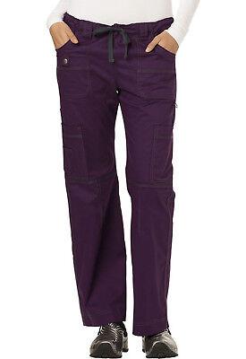 Eggplant Dickies Scrubs Gen Flex Low Rise Drawstring Cargo Pants 857455 EGPZ