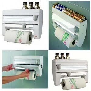 Image Is Loading NEW 4 In 1 Kitchen Roll Holder Dispenser