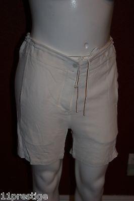 $ 435 Nuova Con Etichetta Alexander Wang Paglia Corda Bianco Corto 100% Viscosa