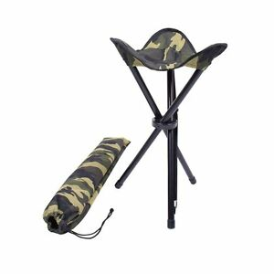 Collapsible Stool With Carry Strap Woodland Camo 4554
