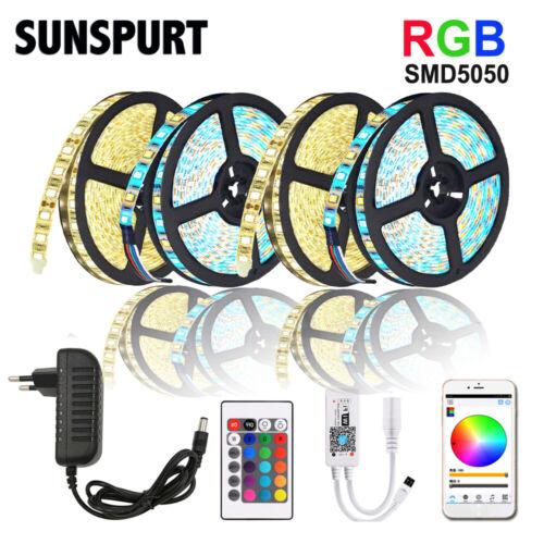 5m-100m WiFi//IR LED Strip Light RGB SMD 2835 5050 RGBW//WW DC12V+Control+Adapter