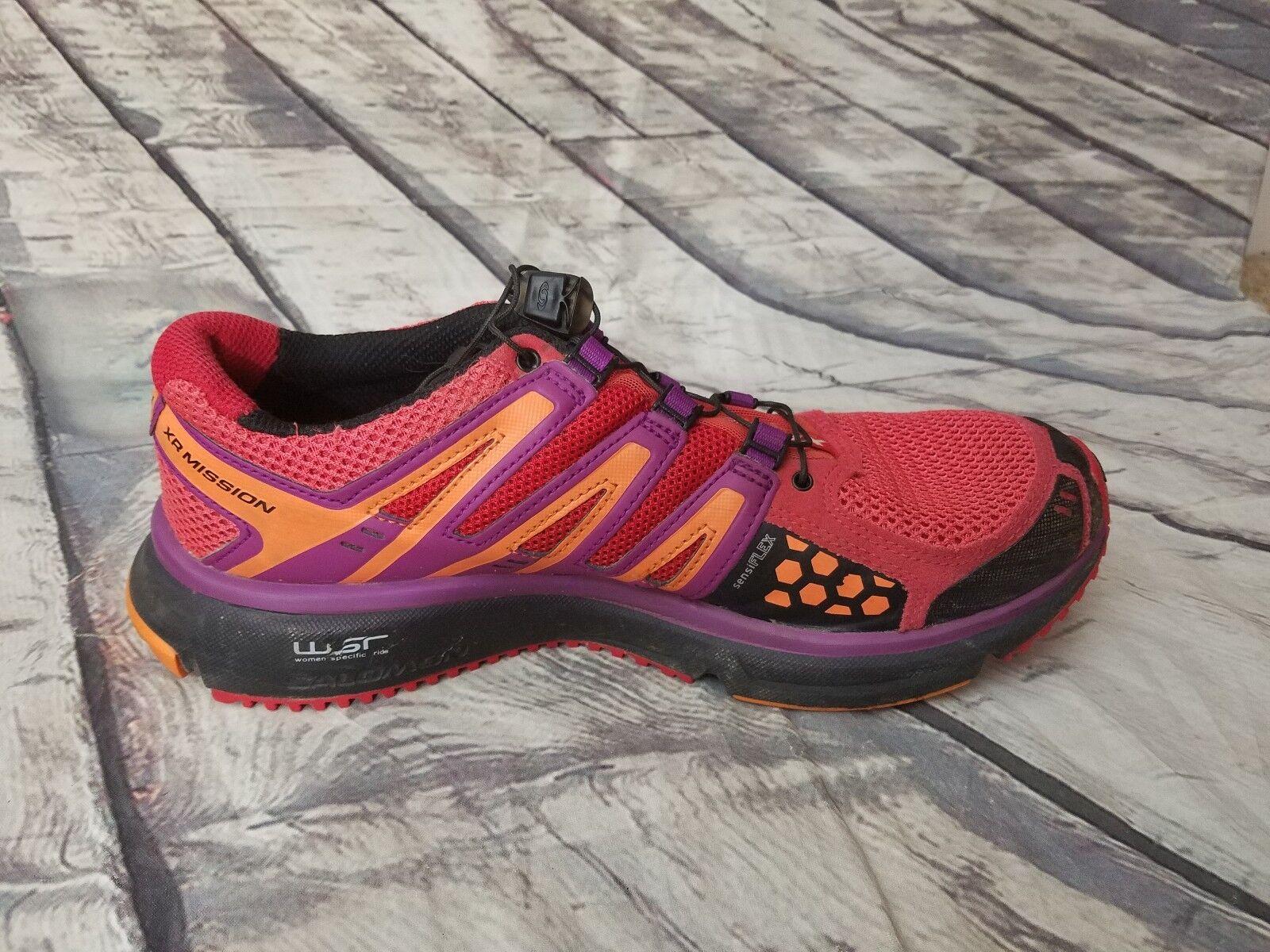 Salomon Women Pink Purple WSR Running XR Mission 1 Trail Running WSR Hiking Shoes 10 EUC 41d55b