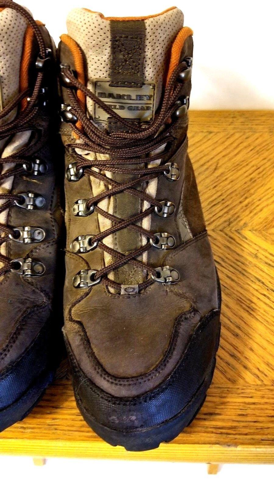 Vntg Oakley Oakley Vntg senderismo campo De Gamuza Marrón Gear Para Hombre Resistente Al Agua Zapatos M 5157e3