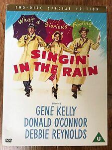 Gene-Kelly-SINGIN-039-IN-THE-RAIN-1952-Musical-2-Disc-Spec-Ed-UK-DVD-w-Slipcover