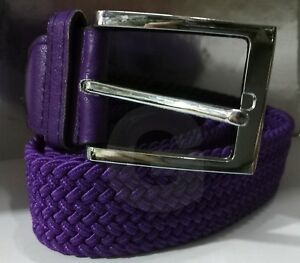 Cintura Donna Intrecciata In Corda Elastica Regolabile Con Fibbia Casual VIOLA