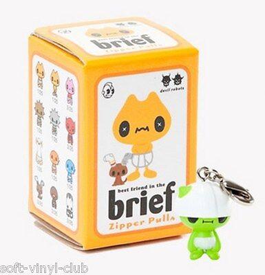 Kidrobot BEST FRIENDS IN THE BRIEF ZIPPER PULLS BOX BY DEVIL ROBOTS Blindbox