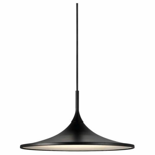 Flache LED Pendelleuchte Skip35 schwarz rund