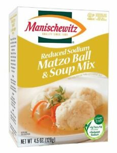 Manischewitz Reduced Sodium Matzo Ball & Soup Mix 2 Boxes, BSB DATE MAY 2021