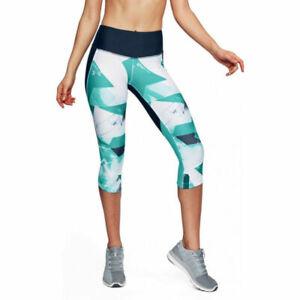 Under Armour UA HeatGear Femmes Imprimé Capri Fly Fast Gym Sports Leggings M