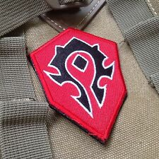 WOW World of Warcraft Tribe Terran Game Red ARMY EMBROIDERED Hook & Loop PATCH