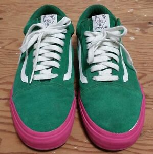 VANS X Golf Wang Syndicate Old Skool Green Pink Size 11 supreme odd ... 21812a1bb