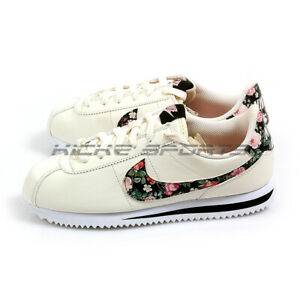 Details about Nike Cortez Basic LTR VF (GS) Floral Pale IvoryBlack Pink Tint BQ5297 100