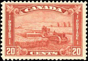 Mint-H-Canada-1930-F-VF-Scott-175-20c-King-George-V-Arch-Leaf-Stamp