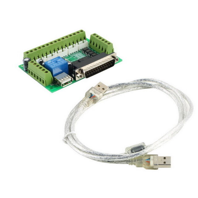 CNC 5 Axis Interface Breakout Board For Stepper Motor Driver CNC Mill MACH3 UL