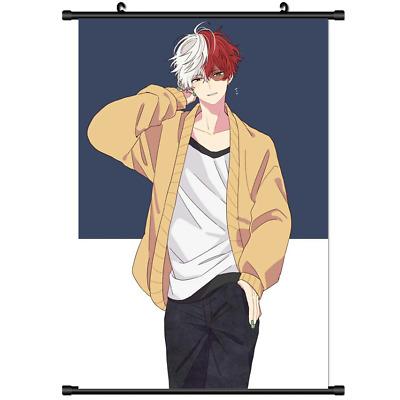 Anime Boku no Hero Academia TODOROKI SHOTO wall Poster Scroll Cosplay s3205