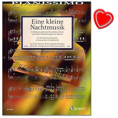 MS Eine kleine Nachtmusik 60 Meisterwerke KLASSIK Heumann leMi Klavier Noten