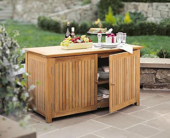 Garden Outdoor Buffet Chest Cabinet