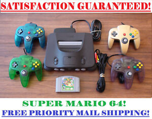 N64-NINTENDO-64-CONSOLE-CONTROLLER-S-SUPER-MARIO-BUNDLE-CLEANED-AND-TESTED