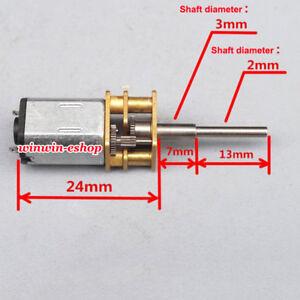 N20-Micro-Gear-Motor-DC-3V-5V-6V-1900RPM-Full-Metal-Gearbox-Speed-ReductionMotor