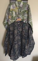 Sims Wear Lot Of 2 Mens Button Front Shirt Long Sleeve Camp Shirt Size L