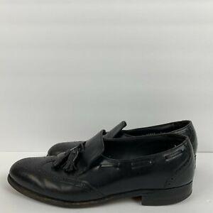 ET-Wright-Tassel-Loafers-Dress-Shoes-Vintage-Leather-Black-Mens-Size-10-5