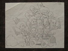 """Charles T. Smith MINNESOTA BLOCKHEADS pencil drawing - """"Laurel and Hardy!"""""""