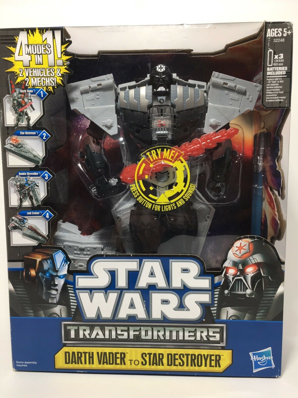 Star Wars Transformers Darth Vader to Star Destroyer - Hasbro - New