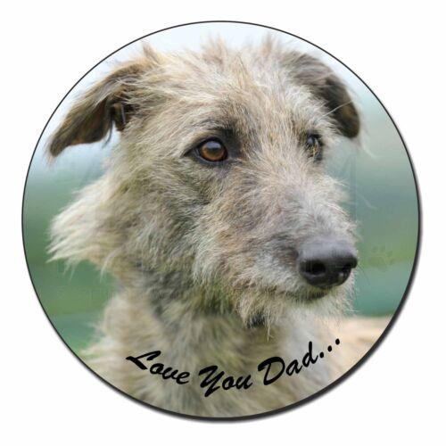 DAD-75FM Rough Coat Lurcher /'Love You Dad/' Fridge Magnet Stocking Filler Christ