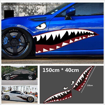 150x50cm DIY Shark Mouth Tooth Teeth Graphics Vinyl Car Sticker Decal Waterproof