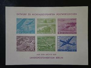 Berlin POST AIRMAIL Proof - SPECIMEN Sheet MNH X RARE HIGH CV - Oirschot, Nederland - Berlin POST AIRMAIL Proof - SPECIMEN Sheet MNH X RARE HIGH CV I always combine postage, no matter how many notes or items you purchase. Remember when buying more than one item, to wait for a modified invoice. So any excess postage co - Oirschot, Nederland