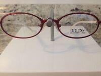 Guess Eyeglass Frame, Nwot, 1291, Red/white, Designer Eyewear