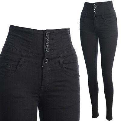 Donna Jeans Skinny Pantaloni High Waist Alta Federale In Vita Pantaloni Slim Fit-mostra Il Titolo Originale