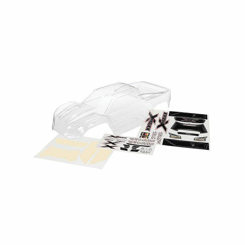 Traxxas TRA7711 cuerpo transparente con hoja de calcomanías (requiere pintura)  1 5 X-Maxx