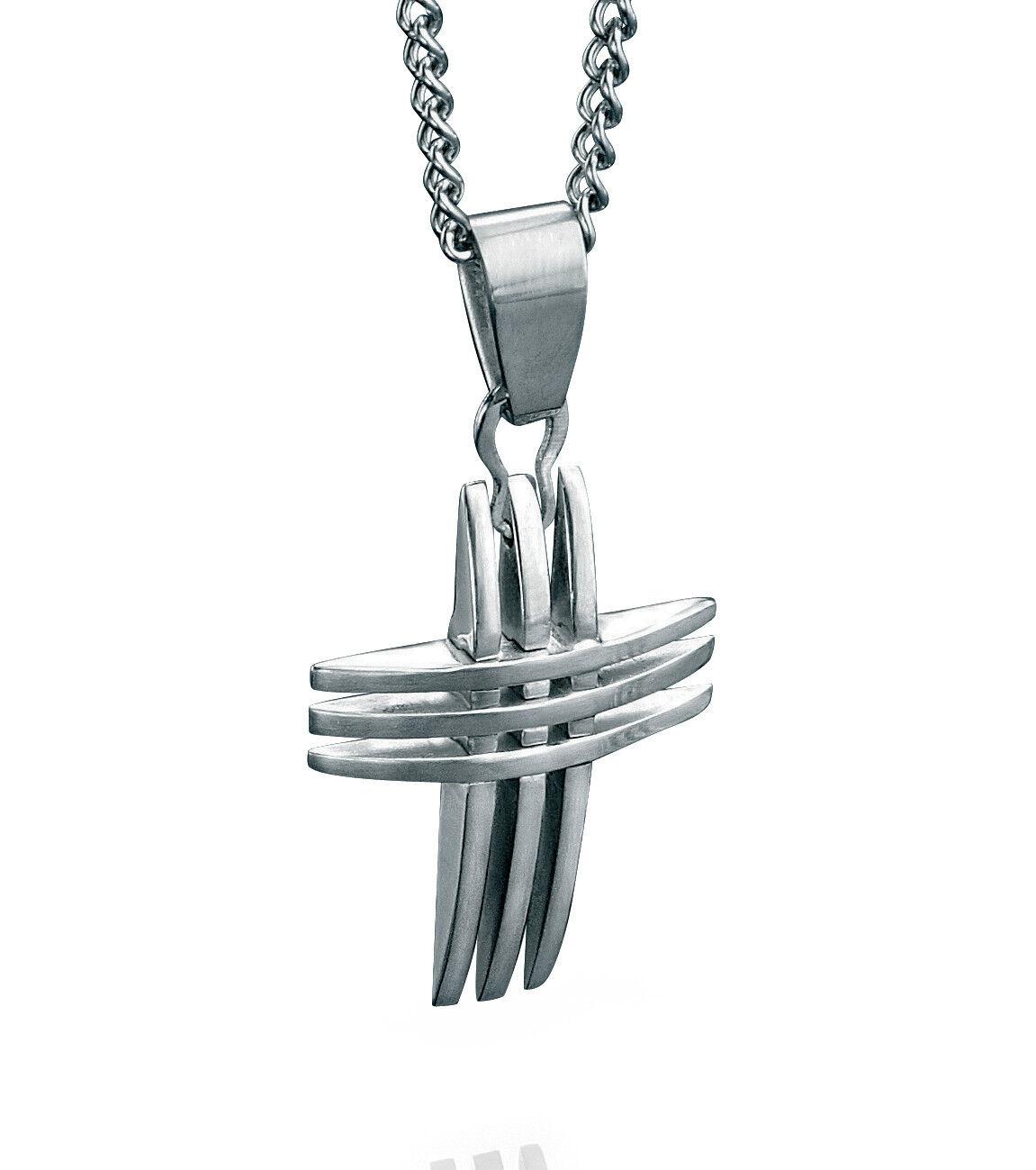 Men's Cross Pendant Fred Bennett Stainless Steel