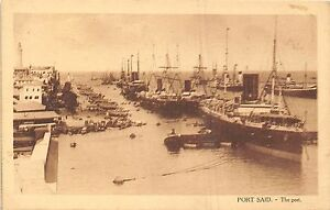 POSTCARD-Egypt-PORT-SAID-The-Port